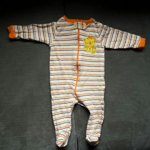 Fisher Price Orange 0-3months baby boy Pajama
